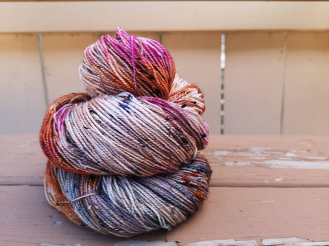 Witchy Woman Tweed Fingering Weight Yarn
