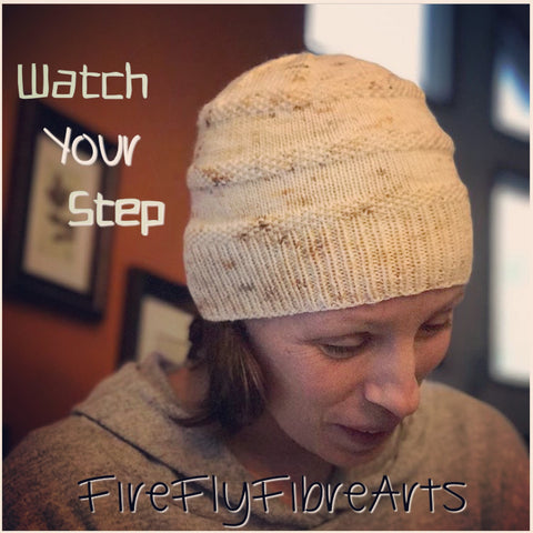 Watch Your Step Knitted Hat PDF Pattern