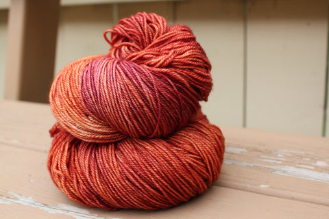yarn the colour of blood oranges