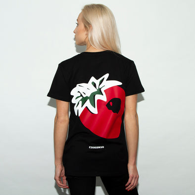 Strawberry - Womens Tshirt - Black - Wasted Heroes