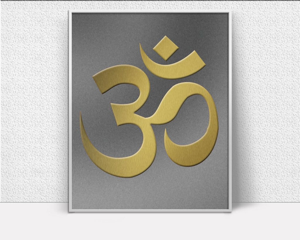 Wall Art Om Digital Print Meditation Poster Art Om Wall Art Print Meditation Spiritual Art Meditation Spiritual Print Om Wall Decor Om metal - Digital Download