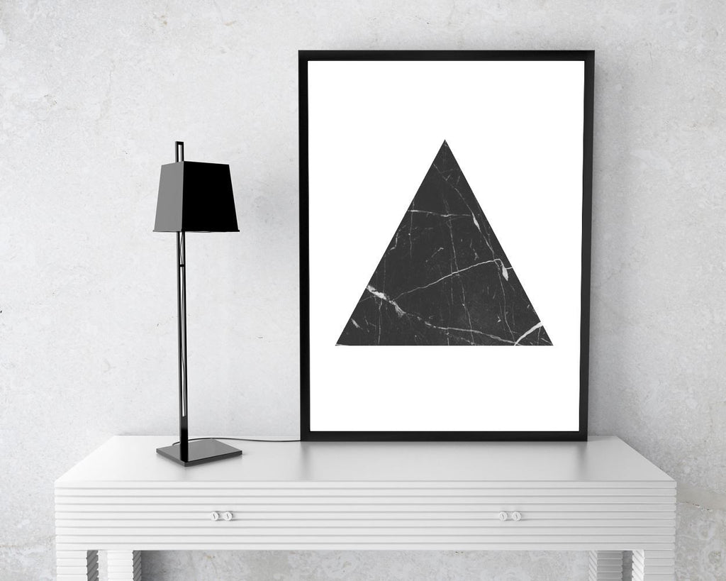 Triangle Framed Print Available Marble Canvas Print Available Triangle Geometric Art Marble Geometric Print Triangle Printed Marble - Digital Download