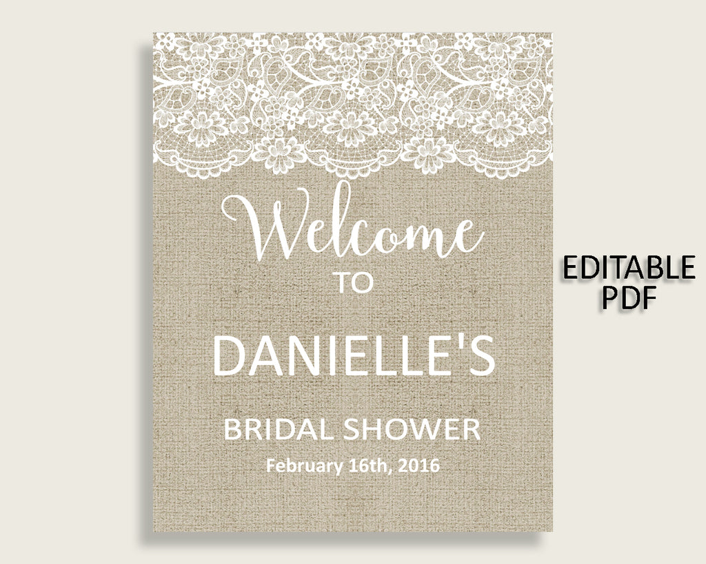 Welcome Sign Bridal Shower Welcome Sign Burlap And Lace Bridal Shower Welcome Sign Bridal Shower Burlap And Lace Welcome Sign Brown NR0BX