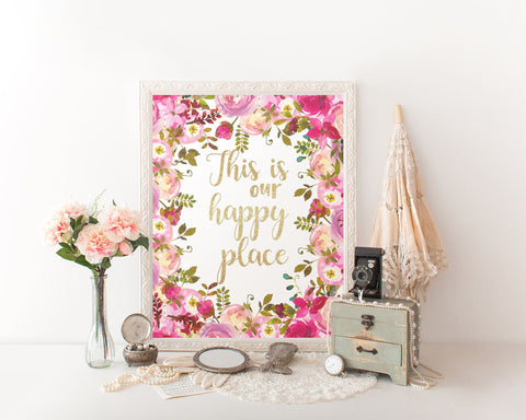 Wall Art This Is Our Happy Place Digital Print This Is Our Happy Place Poster Art This Is Our Happy Place Wall Art Print This Is Our Happy - Digital Download