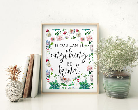 Wall Art Be Kind Digital Print Be Kind Poster Art Be Kind Wall Art Print Be Kind Inspirational Art Be Kind Inspirational Print Be Kind Wall - Digital Download