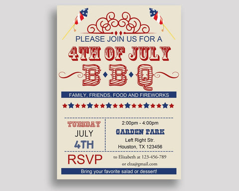 4th Of July Birthday Invitation 4th Of July Birthday Party Invitation 4th Of July Birthday Party 4th Of July Invitation Gender Neutral YB61M - Digital Product