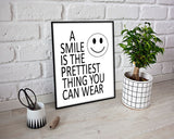 Wall Decor Smiley Printable Smile Prints Smiley Sign Smile Dentist Art Smile Dentist Print Smiley Printable Art Smiley Black And White Smile - Digital Download