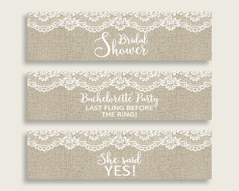 Bottle Labels Bridal Shower Bottle Labels Burlap And Lace Bridal Shower Bottle Labels Bridal Shower Burlap And Lace Bottle Labels NR0BX