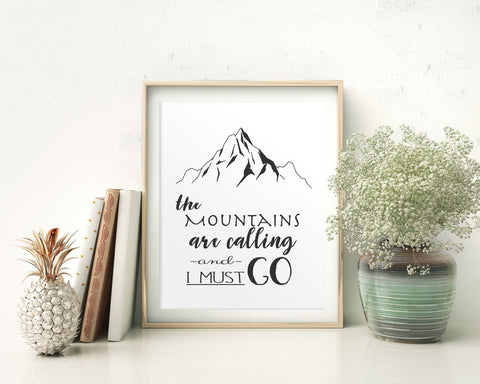 Wall Art Mountains Digital Print Mountains Poster Art Mountains Wall Art Print Mountains Adventure Art Mountains Adventure Print Mountains - Digital Download