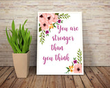 Wall Art Stronger Digital Print Stronger Poster Art Stronger Wall Art Print Stronger  Wall Decor Stronger strenght wall art than you think - Digital Download