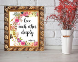 Wall Decor Bible Printable Scripture Prints Bible Sign Scripture  Printable Art Bible love each other love deeply christian art 1 peter 4 8 - Digital Download