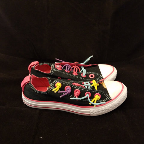 CONVERSE ALL STAR COLORFUL LACES LOW TOP SIZE 2 CHUCK TAYLORS YOUTH