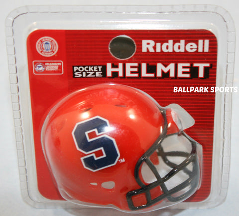 1 SYRACUSE ORANGE POCKET PRO HELMETS RIDDELL REVOLUTION NEW