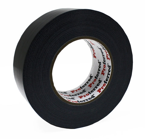 PROFERRED DUCT TAPE Black Case of 36 - 1.88IN X 60YD (55M), 0.18MM (7.0MIL) GENERAL PURPOSE BLACK  - Case of 36 - FastenerExpert.us