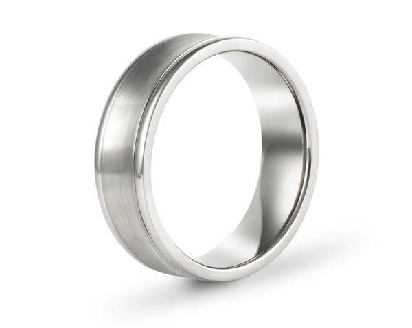 Concave wedding bands