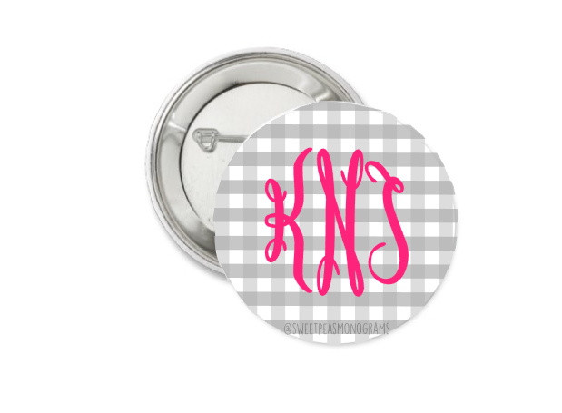 Monogram Button 2.25""