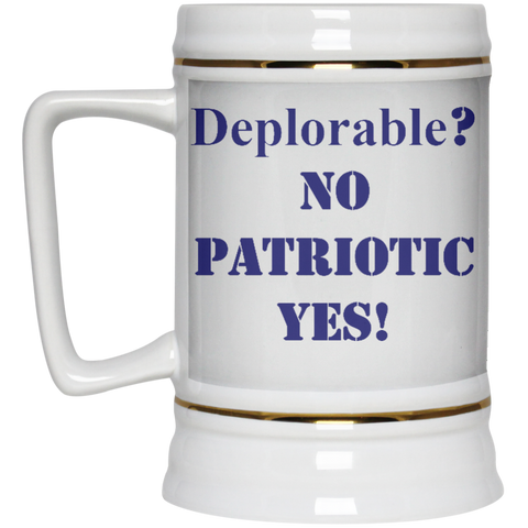 Deplorable Beer Stein - 22 oz