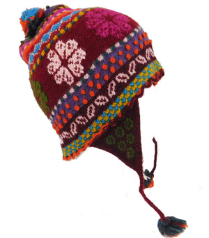 Handmade Red Multi Color Hat