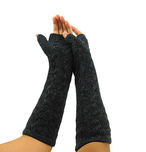 Finger - Less Alpaca Women's Gloves (Dark Gray)