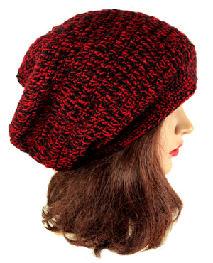 Handmade Beanie Red Slouch Winter Hat