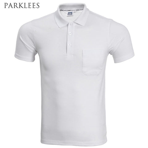 2017 Brand Polo Shirt Men Fashion Short Sleeve Solid Color Pocket Polo Homme Casual Slim Fit Mens - Vietees Shop Online