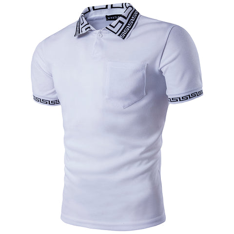 Fashion Pocket Polo Shirt Men 2017  Slim Fit Mens White Polo Shirts - Vietees Shop Online