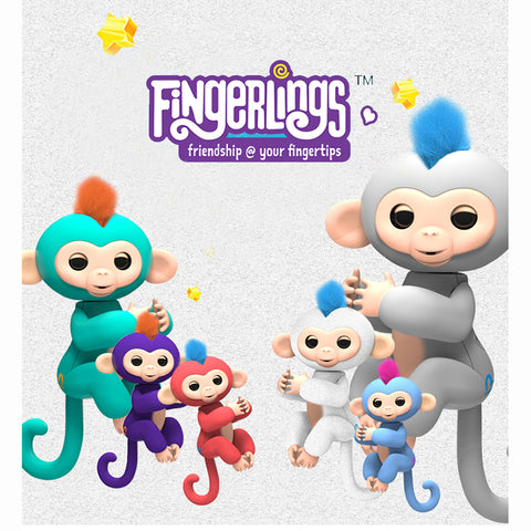 Fingerlings Interactive Baby Monkeys Toy Smart Colorful Finger monkey Smart Induction Toys Christmas Gift Toy For Kids - Vietees Shop Online