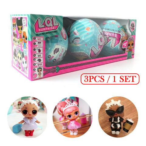 3Pcs LQL Girl Surprise Doll 95mm Funny Fingerling Egg Ball Doll Water Spray Change Toy Figures For Kids Toys Christmas lol Gifts - Vietees Shop Online