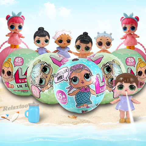 LQL Original Surprise Egg Dolls Pet Baby Girls Dress Up LOL Magic Ball Figure Boneca Toy Finger for Gift Funny Bath Toys LOL - Vietees Shop Online
