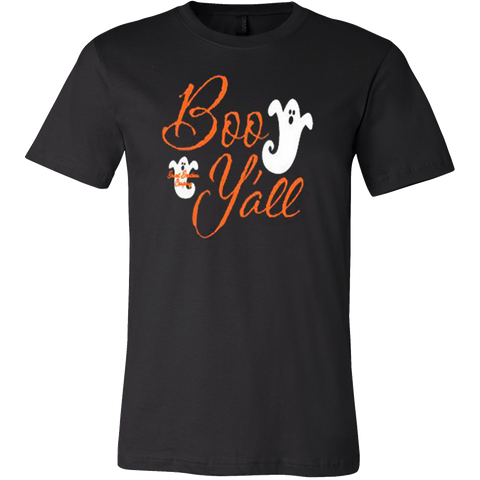Boo Y'all Ghost Monogrammed Halloween T-shirt - Vietees Shop Online