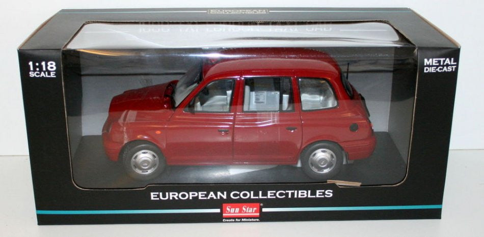 TX1 London Taxi Cab Sun Star 1/18