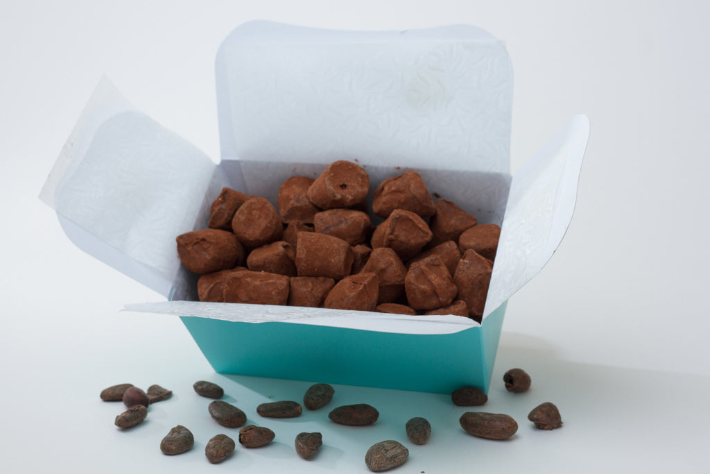 Box of Salted Toffee and Coconut Oil truffles