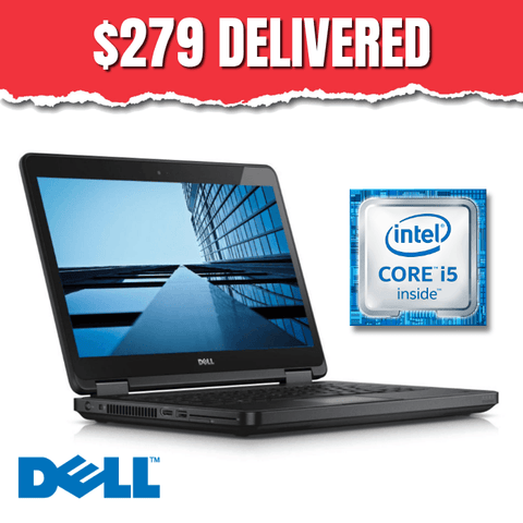 $279 ($569 without code FS81) Dell Latitude E5440 • Intel Core i5 • 128GB SSD • 8GB RAM • Win 10 Home, 64 Bit • HD Webcam • DVD • FREE SHIPPING • $279 Delivered with Code: FS81
