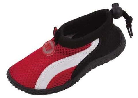 Starbay Toddler's Adjustable Elastic Heel Athletic Water Shoes Red 9