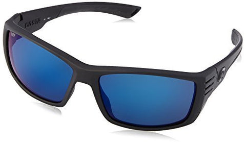Costa Del Mar Cortez Sunglasses Blackout / Blue Mirror 400Glass CZ 01 BMGLP