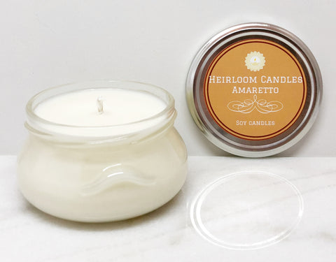 Amaretto Soy Candle - Glass Tureen, 6-12oz