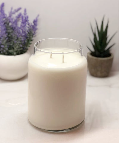 16oz Soy Candle in Apothecary Jar - Double Wicked - Cotton Wick