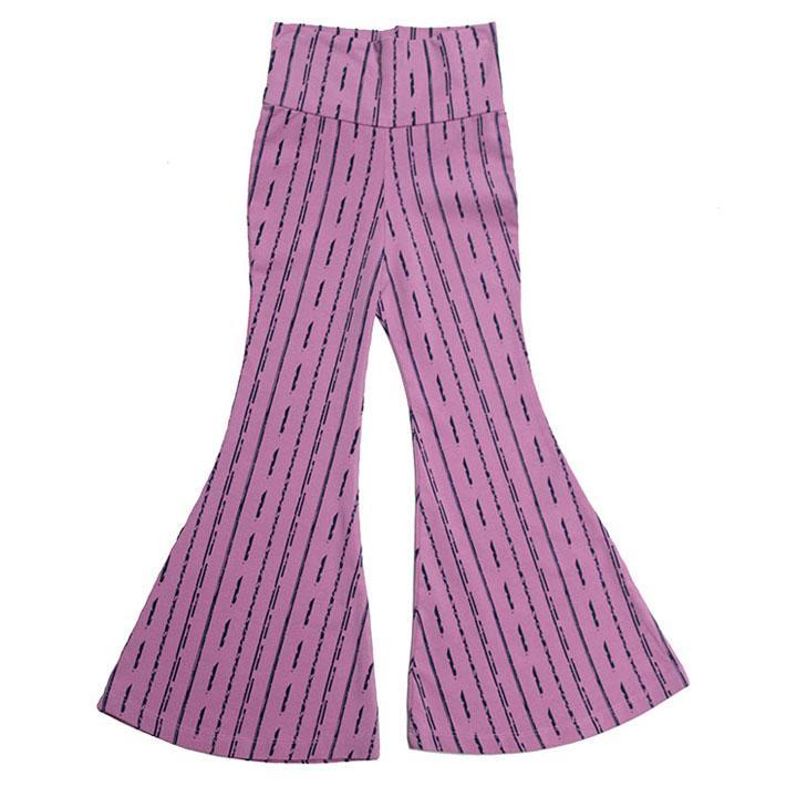 noni bee organic bell bottom pant purple striped