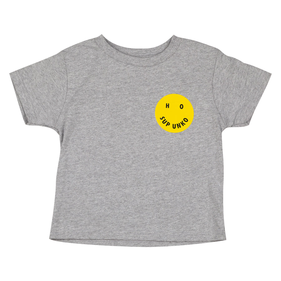 HO SUP UNKO Kids Tee - Heather Gray