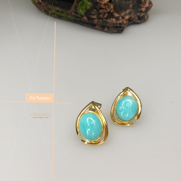 Aria Saison peru amazonite stud earrings