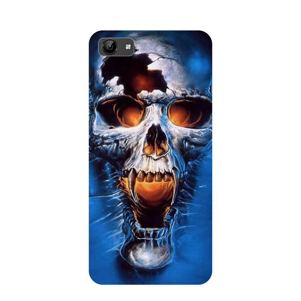 Skull blue- Printed Hard Back Case Cover for Vivo Y71-Hamee India