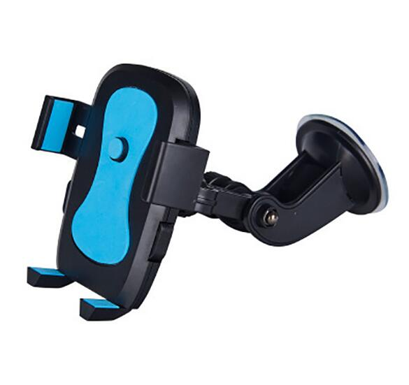 Rotating Adjustable Suction Stand Phone Holder - Blue-Hamee India
