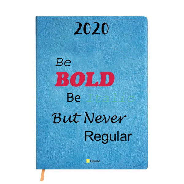 2020 Blue Leather Diary - Be Bold