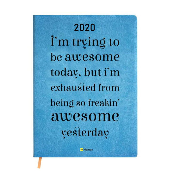 2020 Blue Leather Diary - Awesome
