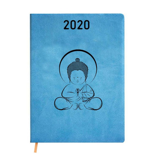2020 Blue Leather Diary - Baby Buddha