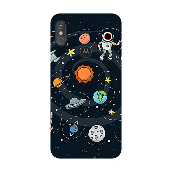 Space Motorola One Power Back Cover-Hamee India