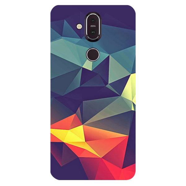 Geometric Nokia 8.1 Back Cover-Hamee India
