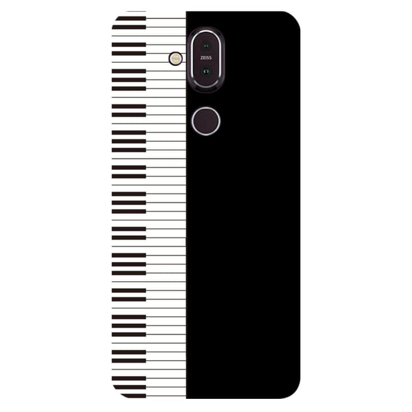 Piano Nokia 8.1 Back Cover-Hamee India