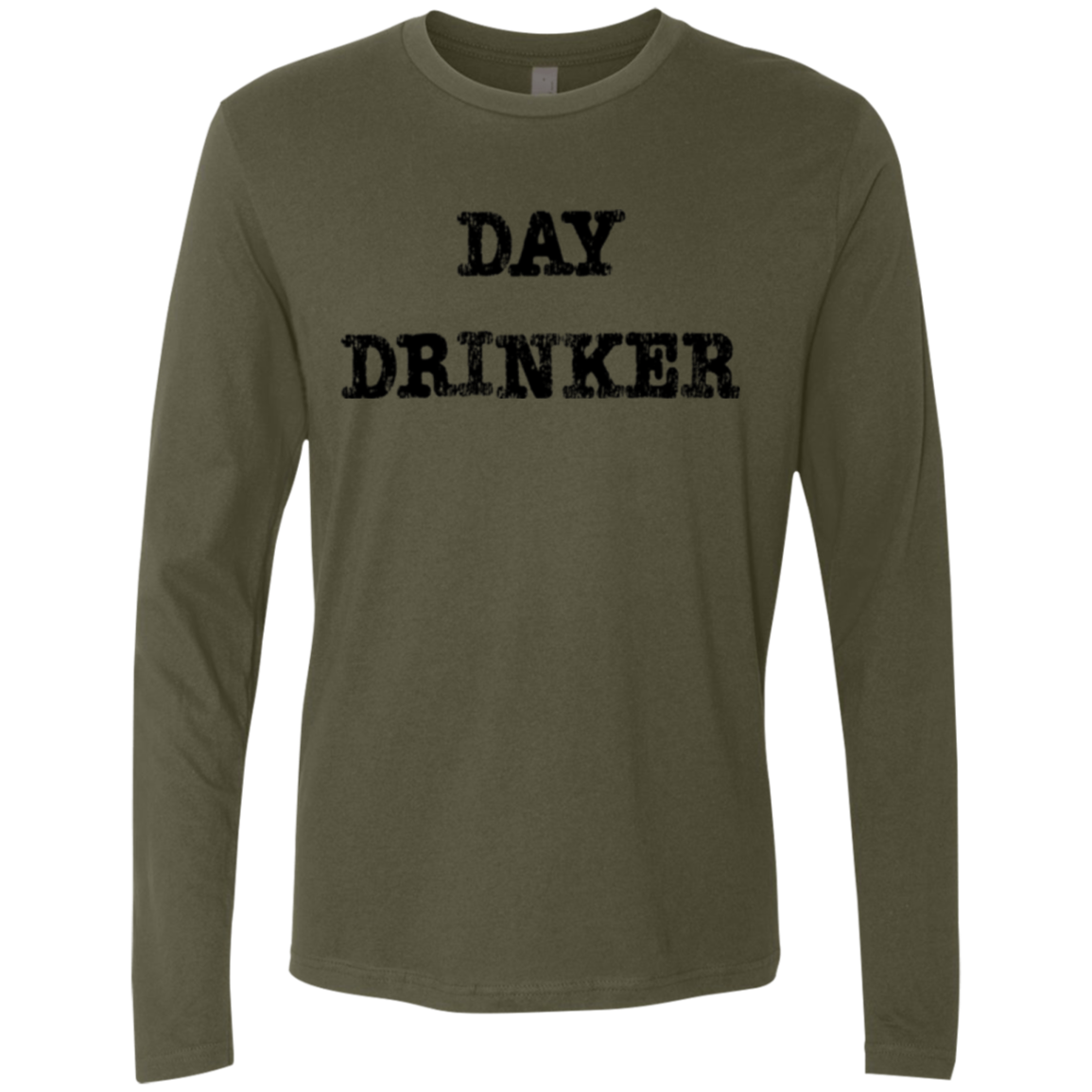 Day Drinker Men's Long Sleeve Tee - Trendy Tees