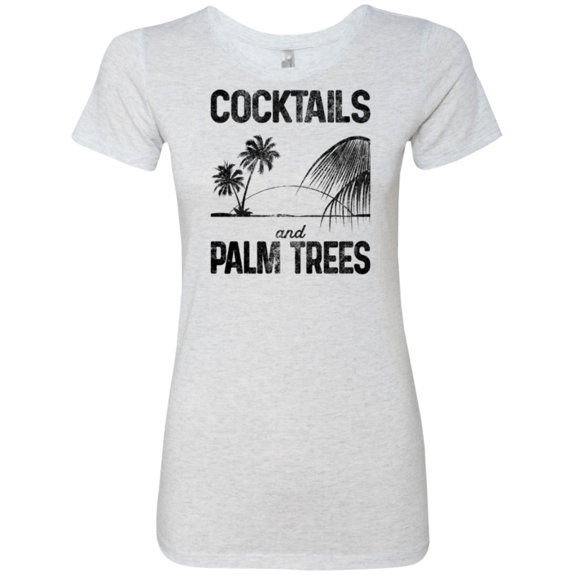 Cocktails and Palm Trees Women's Classic Tee - Trendy Tees